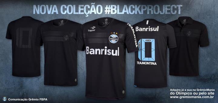 c57dfac467 Grêmio - Topper Black Project - Camisas e Chuteiras