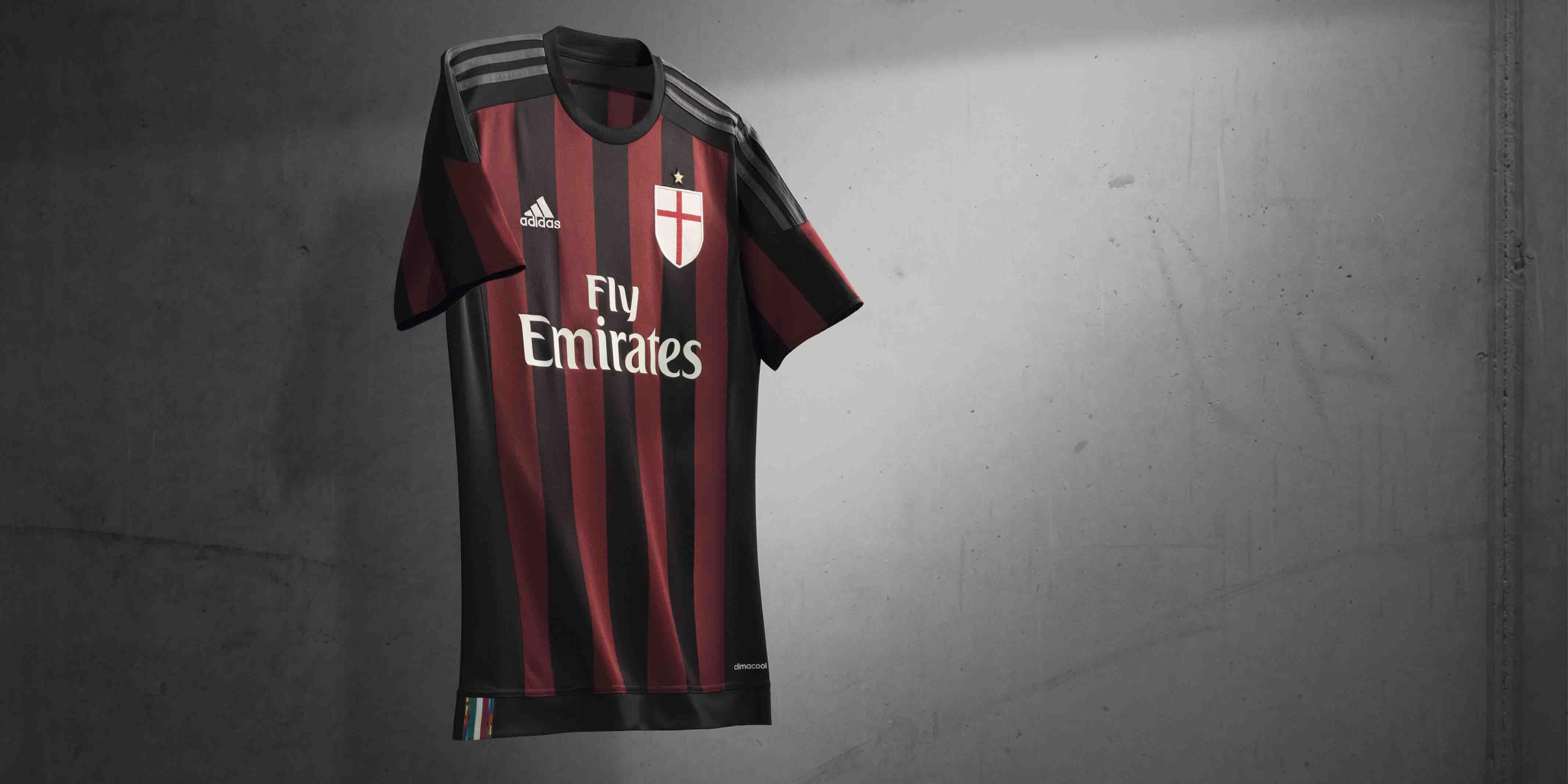 84f3a4284e4f6 Milan - Adidas Home 15 16 - Camisas e Chuteiras