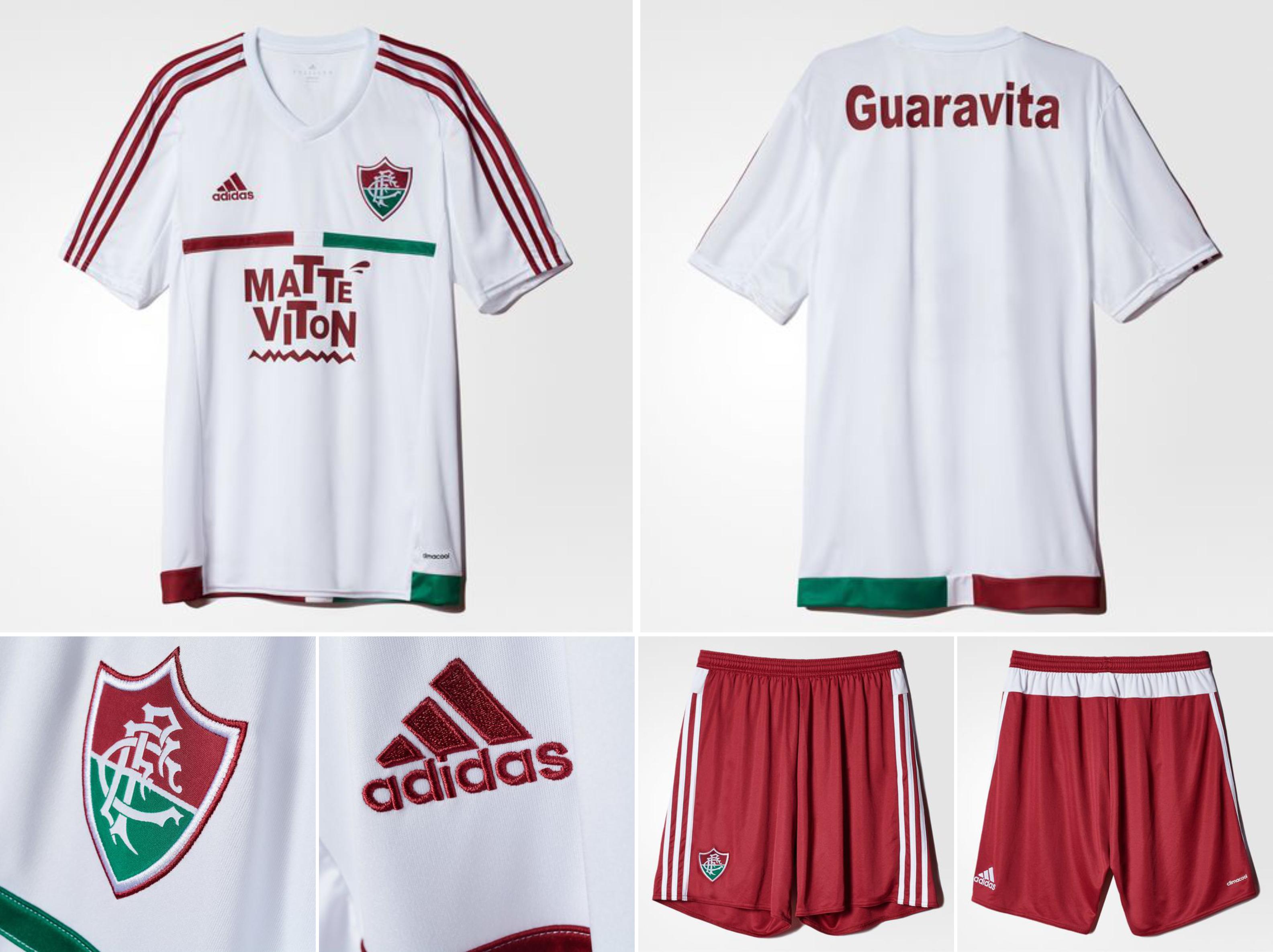 56157402e7 Fluminense - Adidas Away 2015 - Camisas e Chuteiras