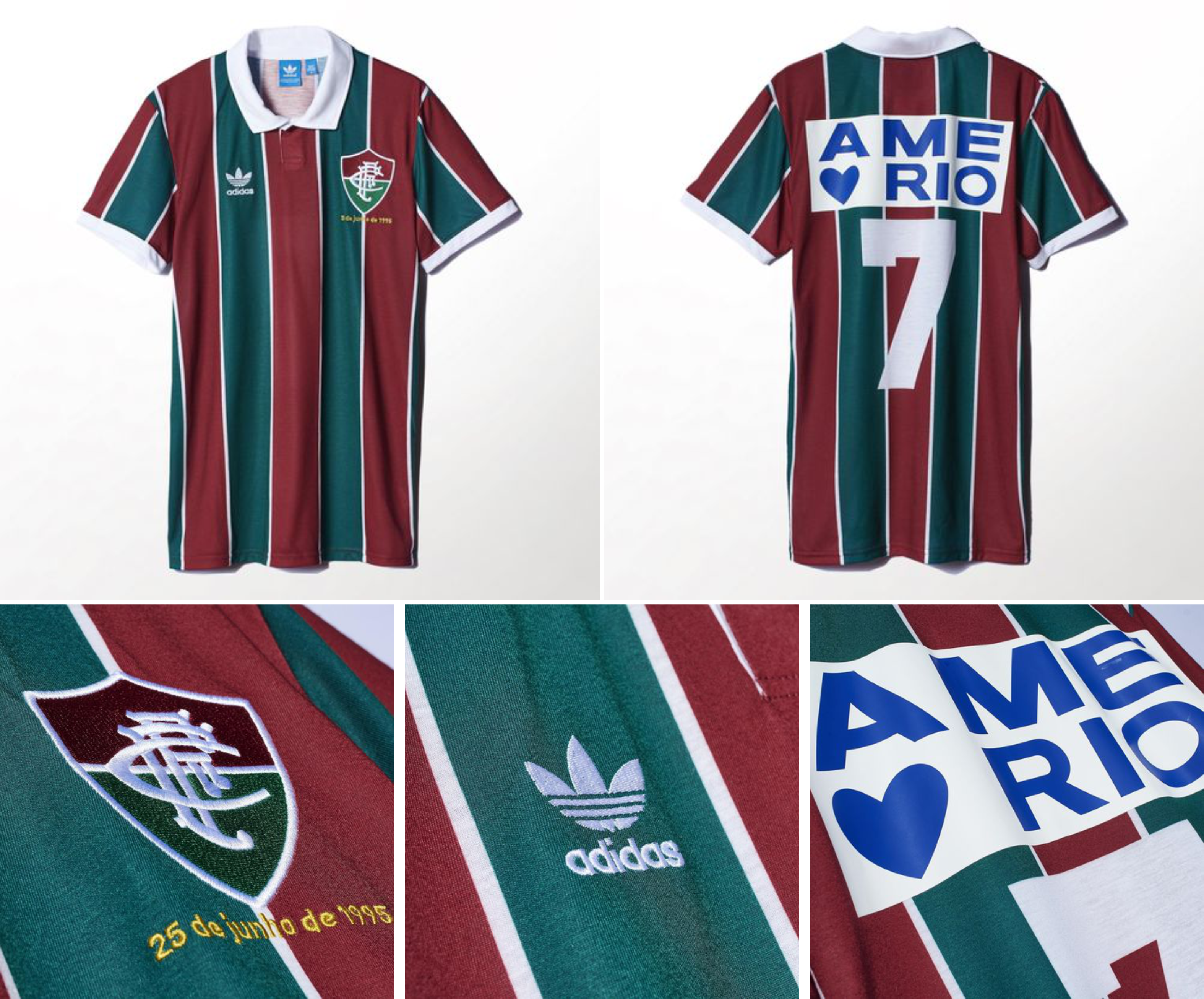7034a224b5 Mais um excelente trabalho da Adidas para o Fluminense. Gostei muito do  novo kit away e do manto comemorativo. Não sei se as duas