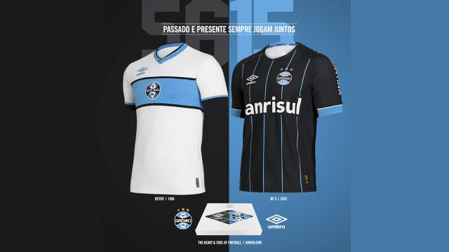 Grêmio - Umbro Fourth 15 16 e Retrô 1956 - Camisas e Chuteiras a5efcf00cf39d