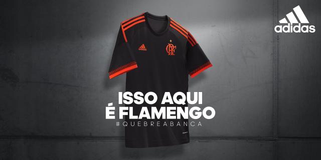 877ac62ec4c3d Adidas e Flamengo iniciam a temporada 2016 com a sorte estampada no peito.  Predominantemente preta
