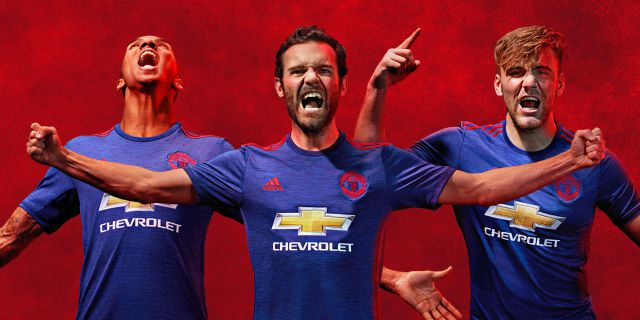 Manchester united adidas away 16 17 camisas e chuteiras for Manchester united exterieur 2017