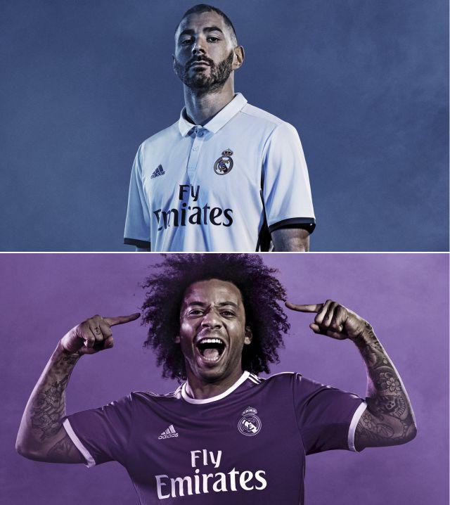 fa941b900b A camisa home ficou belíssima. Simples e clássica, como deve ser o manto do Real  Madrid. Gostei muito do retorno do azul marinho nos detalhes do uniforme.
