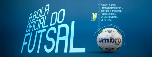 89b487406f Umbro Diamond Pro+ é a nova bola oficial da Liga Nacioanal de Futsal