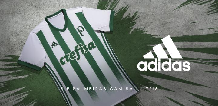 484be03379 Palmeiras e adidas lançam a nova camisa 2 do clube para a temporada  2017-2018. O novo uniforme é inspirado numa das mais emblemáticas  conquistas do clube, ...