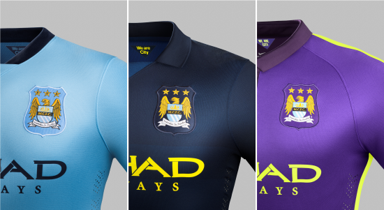 Manchester City Nike Home Away E Third 14 15 Camisas E Chuteiras